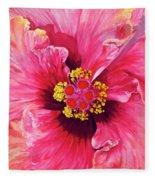 Maron's Hibiscus Fleece Blanket