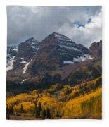 Maroon Bells Peaks Fleece Blanket