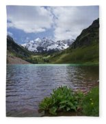 Maroon Bells Spring Fleece Blanket