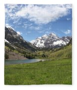 Maroon Bells Trail Panorama Fleece Blanket
