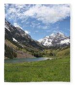 Maroon Bells Wilderness Panorama Fleece Blanket