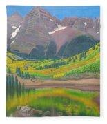 Maroon Lake Fleece Blanket