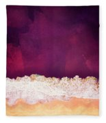 Maroon Ocean Fleece Blanket