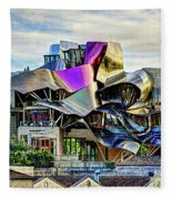 marques de riscal Hotel at sunset - frank gehry Fleece Blanket