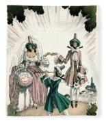 Marriage Of Candide Fleece Blanket