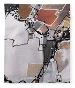 Marron Mapa Fleece Blanket