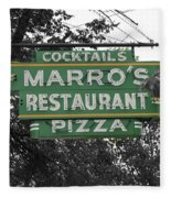 Marro's Restaurant Fleece Blanket
