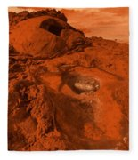 Mars Landscape Fleece Blanket