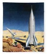 Mars Mission, 1950s Fleece Blanket