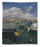 Marsaxlokk Fleece Blanket
