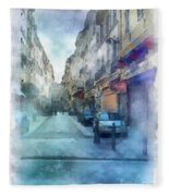 Marseille Back Street Fleece Blanket