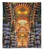 Marseille, France, Inside Of Notre-dame De La Garde Catholic Basilica Fleece Blanket
