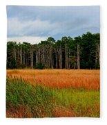 Marsh And Trees Fleece Blanket