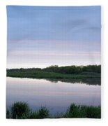Marsh Calm Fleece Blanket