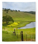 Marsh Creek Road Fleece Blanket