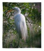 Marsh Heron Fleece Blanket