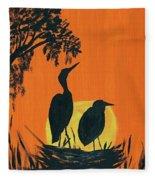 Marsh Nest Fleece Blanket