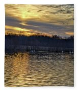 Marsh Ripple Pond Fleece Blanket