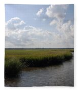 Marsh Scene Charleston Sc II Fleece Blanket