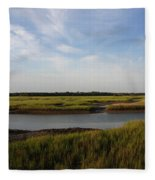 Marsh Scene Charleston Sc Fleece Blanket
