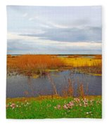 Marsh Spring Fleece Blanket