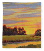 Marsh Sunrise Fleece Blanket