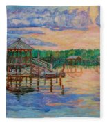 Marsh View At Pawleys Island Fleece Blanket