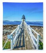 Marshall Point Light Station Fleece Blanket