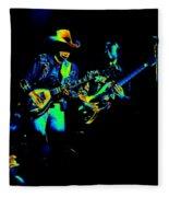 Marshall Tucker Winterland 1975 #14 Enhanced In Cosmicolors Fleece Blanket