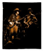 Marshall Tucker Winterland 1975 #17 Enhanced In Amber Fleece Blanket
