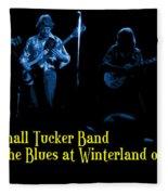 Marshall Tucker Winterland 1975 #18 Enhanced In Blue With Text Fleece Blanket
