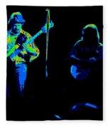 Marshall Tucker Winterland 1975 #18 Enhanced In Cosmicolors #2 Fleece Blanket