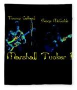 Marshall Tucker Winterland 1975 #19 Enhanced In Cosmicolors With Text Fleece Blanket