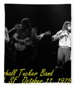 Marshall Tucker Winterland 1975 #37 Crop 2 With Text Fleece Blanket