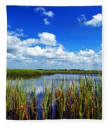 Marsh Lands Fleece Blanket