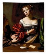 Martha And Mary Magdalen Fleece Blanket