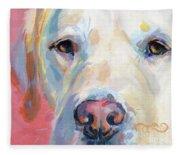 Martha's Pink Nose Fleece Blanket