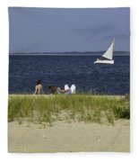 A Day At The Beach 2 - Martha's Vineyard Fleece Blanket