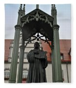 Martin Luther In Market Square Fleece Blanket