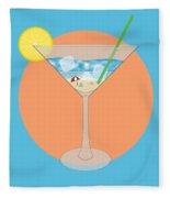 Martini Beach Fleece Blanket
