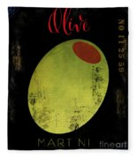 Martini Olive Fleece Blanket