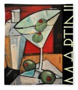 Martini Poster Fleece Blanket