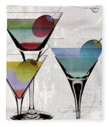 Martini Prism Fleece Blanket