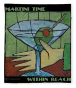 Martini Time - Within Reach Fleece Blanket