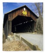 Martinsville Covered Bridge- Hartland Vermont Usa Fleece Blanket