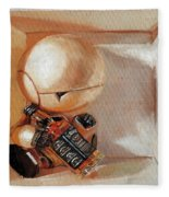 Marvin, Paranoid Android In A Box Fleece Blanket