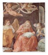 Mary And Angels 1611 Fleece Blanket