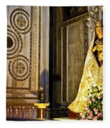 Mary And Baby Jesus In Palermo Fleece Blanket