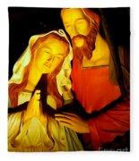 Mary And Joseph Fleece Blanket