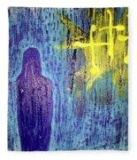 Mary And The Crosses Fleece Blanket